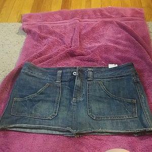 Ultra-mini denim skirt by Express
